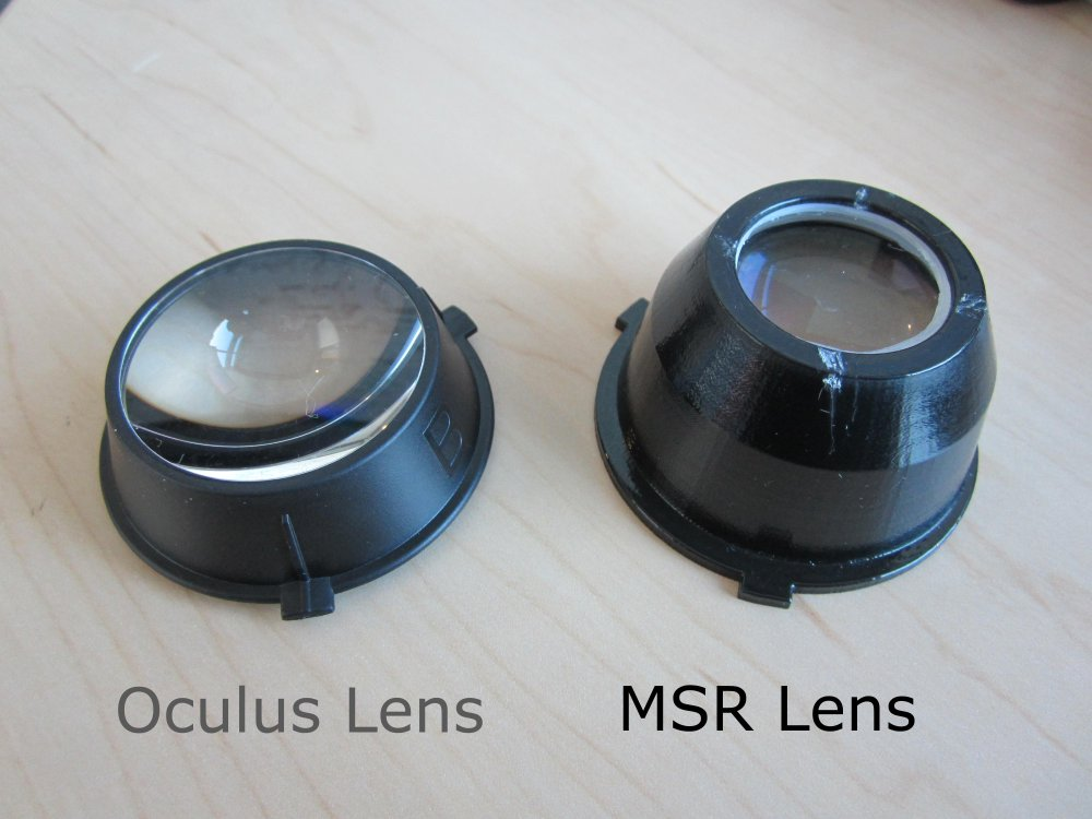 Improved optics for the Oculus Rift DK2